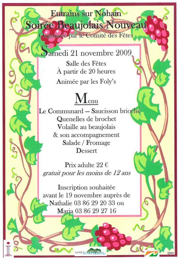 Actualit s - Idee menu pour soiree beaujolais ...